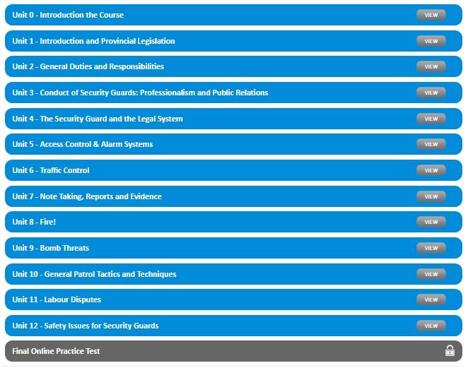 saskatchewan security course overview