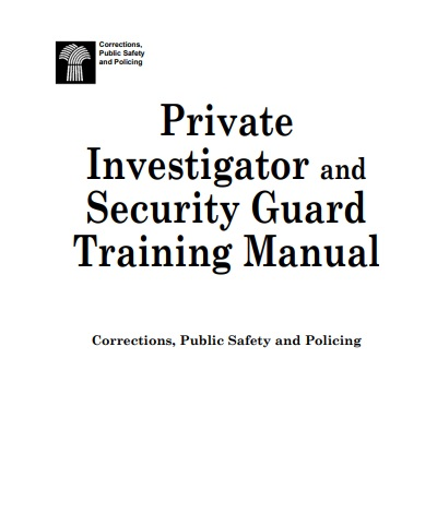 Saskatchewan Security Training Manual