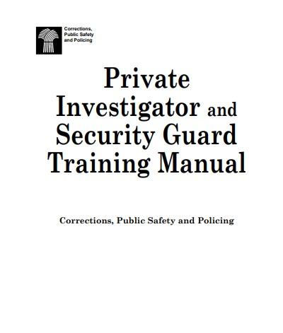 Saskatchewan Security Training Manual